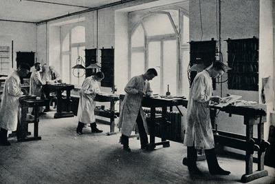 Workshop of the Arts and Crafts technical school, Flensburg, Germany. c1908-Unknown-Framed Photographic Print