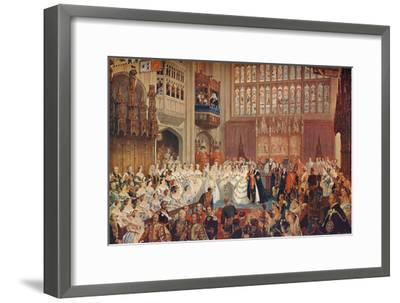 The Marriage of the Prince of Wales, 1863 (1906)-Unknown-Framed Giclee Print
