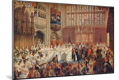 The Marriage of the Prince of Wales, 1863 (1906)-Unknown-Mounted Giclee Print