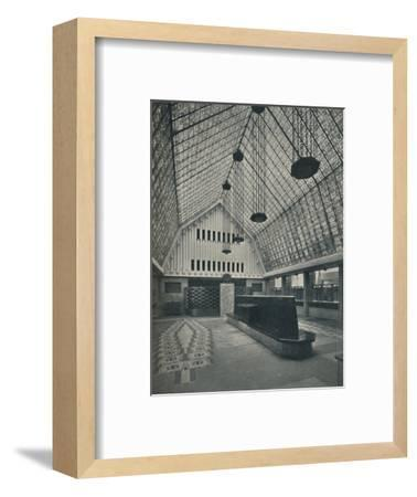 The Great Hall, Bank of Rotterdam, The Hague', 1920-Unknown-Framed Photographic Print
