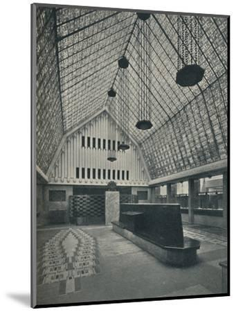 The Great Hall, Bank of Rotterdam, The Hague', 1920-Unknown-Mounted Photographic Print