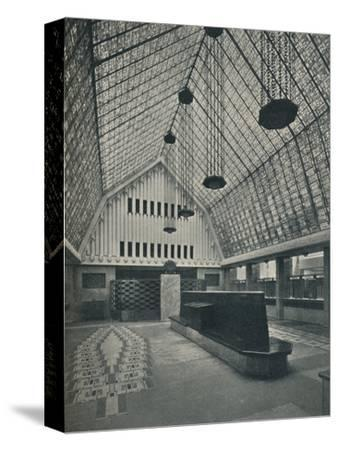 The Great Hall, Bank of Rotterdam, The Hague', 1920-Unknown-Stretched Canvas Print