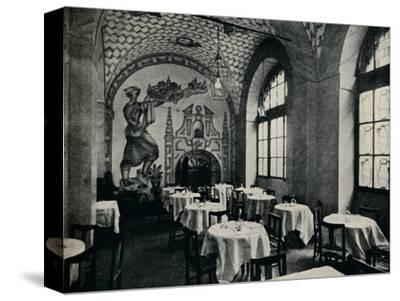 'The Penna D'Oca Restaurant, Main dining room', c1928-Unknown-Stretched Canvas Print