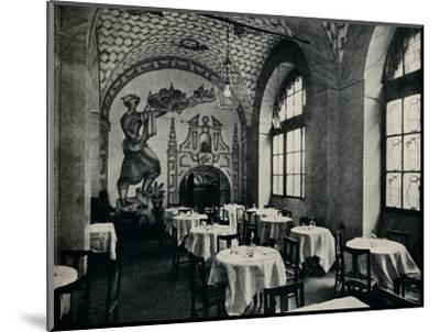 'The Penna D'Oca Restaurant, Main dining room', c1928-Unknown-Mounted Photographic Print