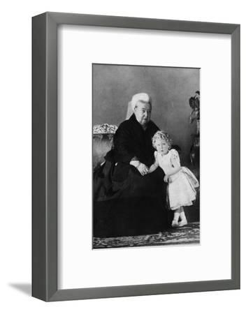 'Queen Victoria and Edward VIII', c1898 (1936)-Unknown-Framed Photographic Print