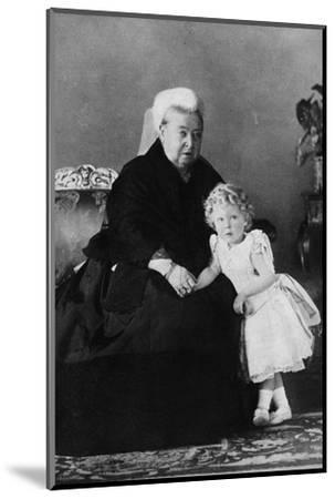 'Queen Victoria and Edward VIII', c1898 (1936)-Unknown-Mounted Photographic Print