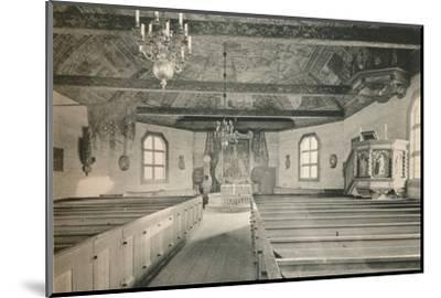 'Seglora Church,Skansen Open Air Museum, Stockholm', 1925-Unknown-Mounted Photographic Print