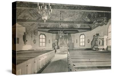 'Seglora Church,Skansen Open Air Museum, Stockholm', 1925-Unknown-Stretched Canvas Print