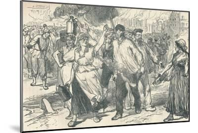 Rioters and petroleuses firing public buildings in Paris during the Paris Commune, 1871-Unknown-Mounted Giclee Print