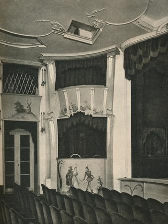 'Proscenium and Stage Boxes in the Komodie Theatre, Berlin', c1926-Unknown-Framed Photographic Print
