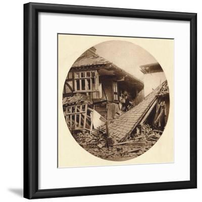 Air raid damage in Croydon, 1915 (1935)-Unknown-Framed Photographic Print
