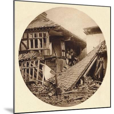 Air raid damage in Croydon, 1915 (1935)-Unknown-Mounted Photographic Print