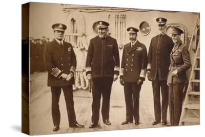 American admirals afloat with the King, 1918 (1935)-Unknown-Stretched Canvas Print
