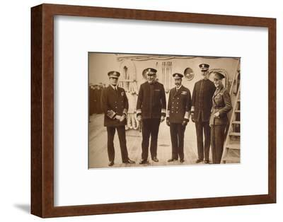 American admirals afloat with the King, 1918 (1935)-Unknown-Framed Photographic Print