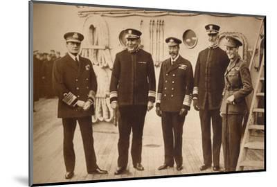 American admirals afloat with the King, 1918 (1935)-Unknown-Mounted Photographic Print