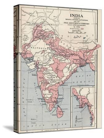 Map of India in 1856 (1906)-Unknown-Stretched Canvas Print