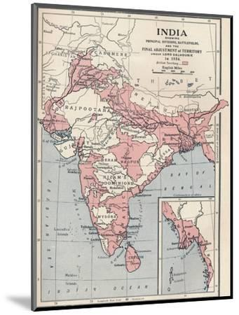 Map of India in 1856 (1906)-Unknown-Mounted Giclee Print