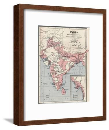 Map of India in 1856 (1906)-Unknown-Framed Giclee Print