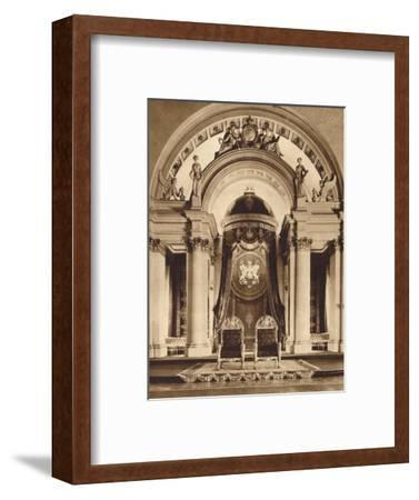 Thrones in the ballroom at Buckingham Palace, 1935-Unknown-Framed Photographic Print