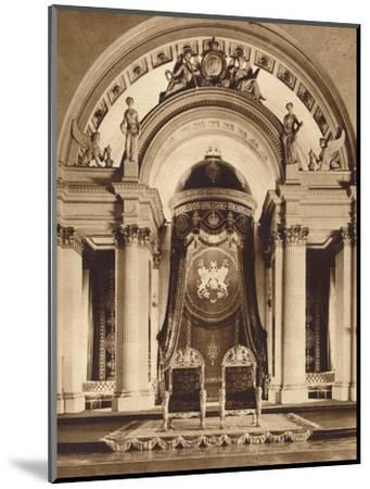 Thrones in the ballroom at Buckingham Palace, 1935-Unknown-Mounted Photographic Print