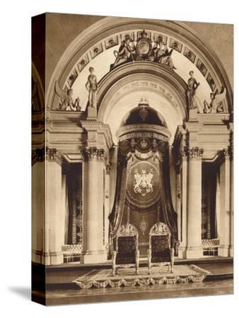 Thrones in the ballroom at Buckingham Palace, 1935-Unknown-Stretched Canvas Print
