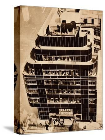 'Steel, concrete and glass, make modern buildings', 1935-Unknown-Stretched Canvas Print