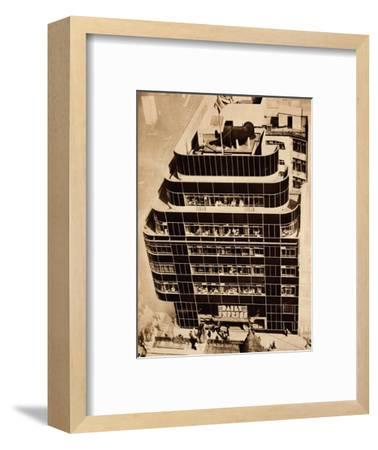 'Steel, concrete and glass, make modern buildings', 1935-Unknown-Framed Photographic Print