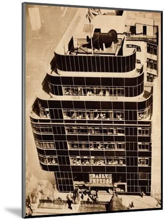 'Steel, concrete and glass, make modern buildings', 1935-Unknown-Mounted Photographic Print