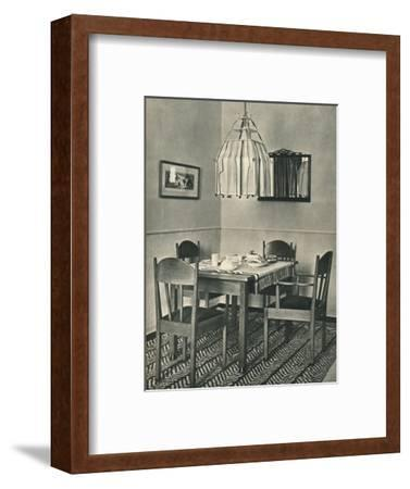 'Dining-Table and Chairs designed by Willem Penaat', 1928-Unknown-Framed Photographic Print
