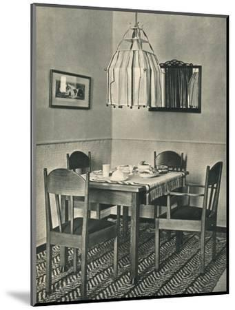 'Dining-Table and Chairs designed by Willem Penaat', 1928-Unknown-Mounted Photographic Print