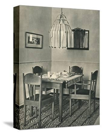 'Dining-Table and Chairs designed by Willem Penaat', 1928-Unknown-Stretched Canvas Print