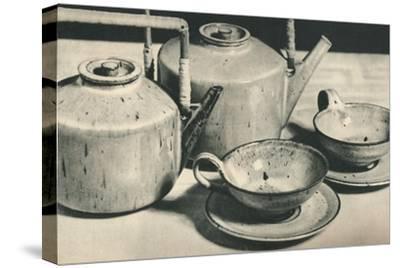 'Part of Tea Service by the Werkstatten der Stadt Halle', 1928-Unknown-Stretched Canvas Print