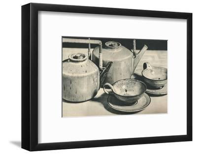 'Part of Tea Service by the Werkstatten der Stadt Halle', 1928-Unknown-Framed Photographic Print
