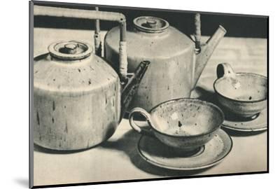 'Part of Tea Service by the Werkstatten der Stadt Halle', 1928-Unknown-Mounted Photographic Print