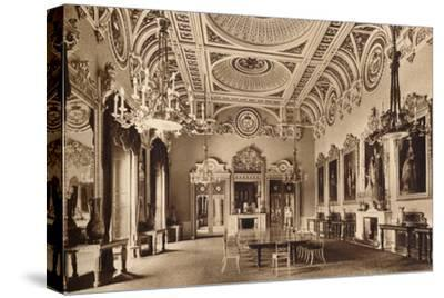 The State Dining Room, Buckingham Palace, 1935-Unknown-Stretched Canvas Print