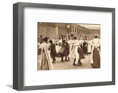 Dancing celebrates the end of war, 1918 (1935)-Unknown-Framed Photographic Print