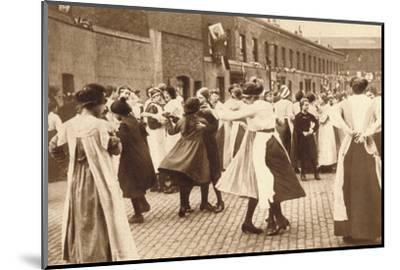 Dancing celebrates the end of war, 1918 (1935)-Unknown-Mounted Photographic Print