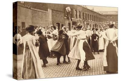 Dancing celebrates the end of war, 1918 (1935)-Unknown-Stretched Canvas Print