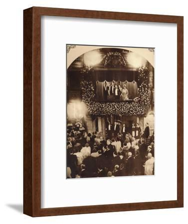 King George V and Queen Mary at a Royal Command Variety Performance, 1920s or 1930s-Unknown-Framed Photographic Print