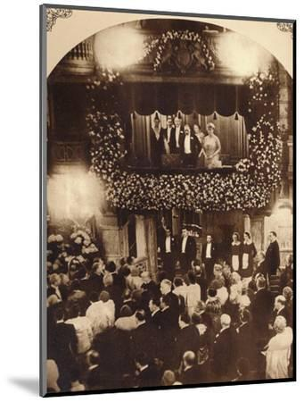 King George V and Queen Mary at a Royal Command Variety Performance, 1920s or 1930s-Unknown-Mounted Photographic Print