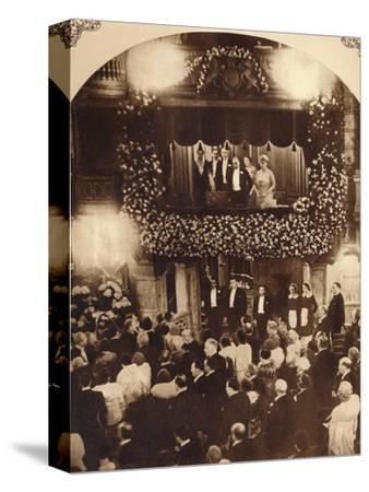 King George V and Queen Mary at a Royal Command Variety Performance, 1920s or 1930s-Unknown-Stretched Canvas Print