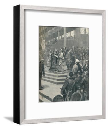 'The Queen Opening The Crystal Palace', 1906-Unknown-Framed Giclee Print