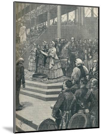 'The Queen Opening The Crystal Palace', 1906-Unknown-Mounted Giclee Print