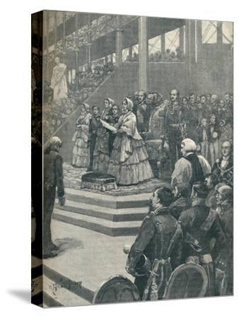 'The Queen Opening The Crystal Palace', 1906-Unknown-Stretched Canvas Print