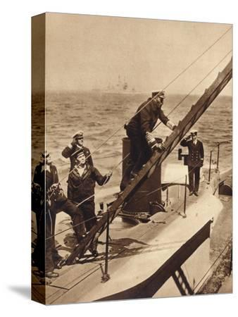 King George V afloat with his Navy, c1910s (1935)-Unknown-Stretched Canvas Print