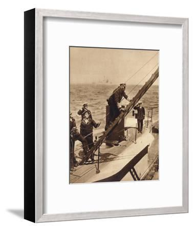 King George V afloat with his Navy, c1910s (1935)-Unknown-Framed Photographic Print