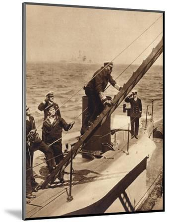 King George V afloat with his Navy, c1910s (1935)-Unknown-Mounted Photographic Print