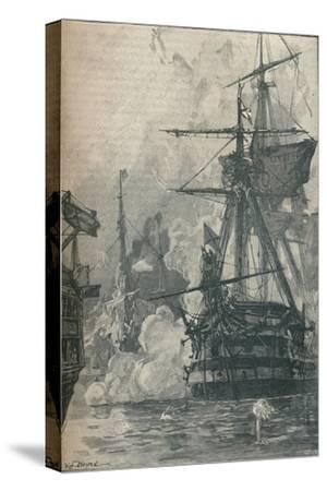 The Russian attack on Sinop, Turkey, 1853 (1906)-Unknown-Stretched Canvas Print