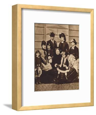 Queen Victoria with her daughter-in-law and grandchildren, c1880 (1935)-Unknown-Framed Photographic Print