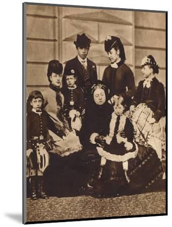Queen Victoria with her daughter-in-law and grandchildren, c1880 (1935)-Unknown-Mounted Photographic Print